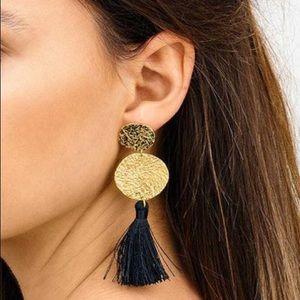 GORJANA - NWOT PHOENIX Gold Disk Tassel Earrings